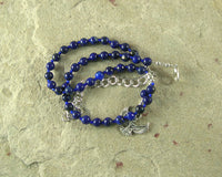 Isis Necklace in Lapis Lazuli (Adjustable): Egyptian Goddess of Magic, Wisdom - Hearthfire Handworks