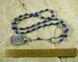 Thoth Prayer Bead Necklace in Lapis Lazuli: Egyptian God of Wisdom and Learning, Language and Communication - Hearthfire Handworks