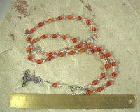 Thor Prayer Bead Necklace in Carnelian: Norse God of Thunder, Protection, Fertility