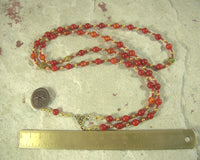 Inanna (Ishtar) Prayer Bead Necklace in Carnelian: Sumerian Mesopotamian Goddess of Love, War, Power, Justice