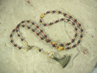 Perun Prayer Bead Necklace in Garnet: Slavic God of Thunder, Fertility