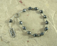 Anubis Pocket Prayer Beads: Egyptian God of the Underworld and the Afterlife, Guardian of the Dead - Hearthfire Handworks
