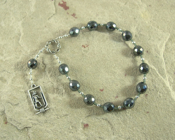 Anubis Pocket Prayer Beads: Egyptian God of the Underworld and the Afterlife, Guardian of the Dead