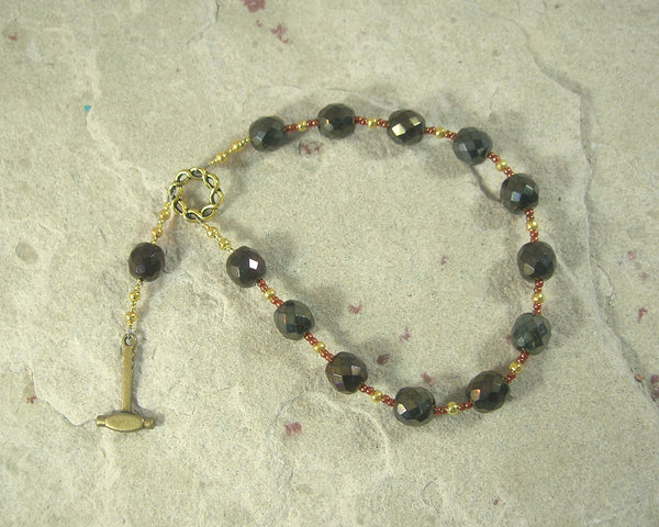 Ilmarinen Pocket Prayer Beads: Finnish God of Invention, Master of the Forge