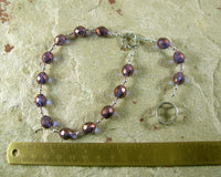 Juno Pocket Prayer Beads: Roman Goddess of Marriage, Guardian of the Community, Queen of the Gods - Hearthfire Handworks