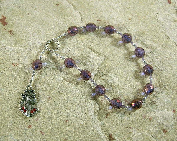 Mut Pocket Prayer Beads: Egyptian Mother Goddess, Goddess of the Heavens, Queen of Gods - Hearthfire Handworks
