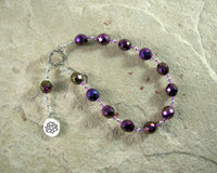 Nefertem Pocket Prayer Beads: Egyptian God of Healing, Beauty, Perfume and Scents - Hearthfire Handworks