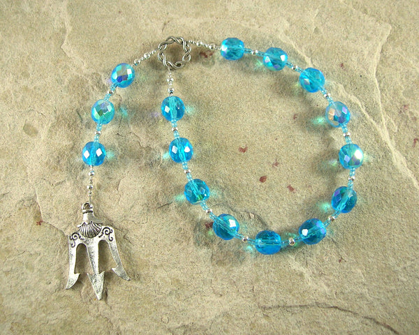 Neptune Pocket Prayer Beads: Roman God of the Sea and Fresh Water