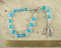 Neptune Pocket Prayer Beads: Roman God of the Sea and Fresh Water - Hearthfire Handworks