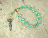 Goddess Pocket Prayer Beads with Nile Goddess Pendant