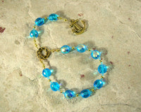 Njord Pocket Prayer Beads: Norse God of the Sea, Abundance and Commerce - Hearthfire Handworks