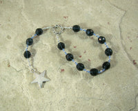 Nótt Pocket Prayer Beads: Norse Goddess of the Night - Hearthfire Handworks