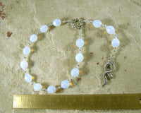 Salus Pocket Prayer Beads: Roman Goddess of Health and Well-Being - Hearthfire Handworks