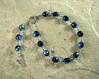Saturn Pocket Prayer Beads: Roman God of Agriculture, Abundance, Wealth, Time, Father of the Gods - Hearthfire Handworks