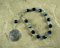 Veles Pocket Prayer Beads: Slavic God of Magic, the Underworld - Hearthfire Handworks
