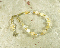 Apollo Prayer Bead Bracelet in Citrine: Greek God of Music and the Arts, Health and Healing - Hearthfire Handworks