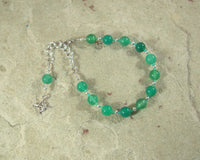 Artemis Prayer Bead Bracelet in Green Agate: Greek Goddess of  the Wild, Protector of Young Women
