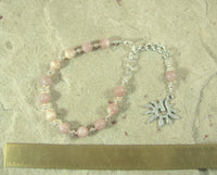 Eos Prayer Bead Bracelet in Sunstone: Greek Goddess of the Dawn