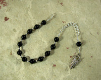 Hades Prayer Bead Bracelet in Black Onyx: Greek God of Death and the Afterlife - Hearthfire Handworks