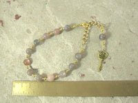 Hekate Prayer Bead Bracelet in Moonstone: Greek Goddess of Magic and Witchcraft