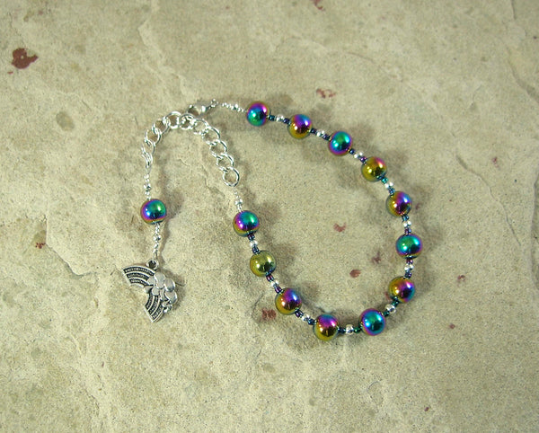 Iris Prayer Bead Bracelet in Rainbow Hemalyke: Greek Goddess of the Rainbow