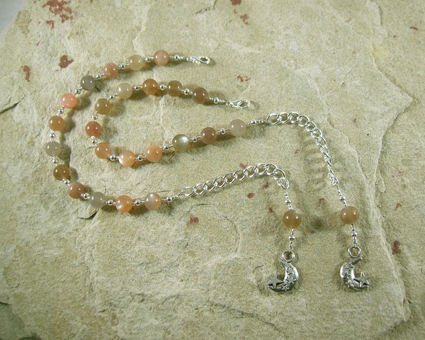 Custom Order, Reserved:  Selene Prayer Bead Bracelets - Hearthfire Handworks