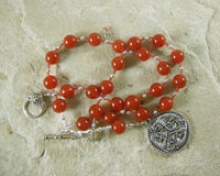 Freyja (Freya) Prayer Bead Necklace in Carnelian: Norse Goddess of Love, War and Magic - Hearthfire Handworks
