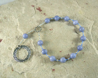 Apollo Pocket Prayer Beads in Celestite: Greek God of Music and the Arts, Health and Healing - Hearthfire Handworks