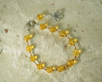 Apollo Pocket Prayer Beads in Citrine: Greek God of Music and the Arts, Health and Healing - Hearthfire Handworks
