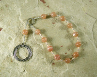 Apollo Pocket Prayer Beads in Sunstone: Greek God of Music and the Arts, Health and Healing - Hearthfire Handworks