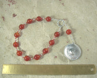Ares Pocket Prayer Beads in Carnelian: Greek God of War, Battle, Courage, Patron of Soldiers