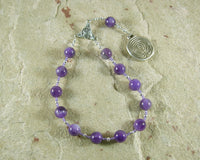 Ariadne Pocket Prayer Beads in Amethyst: Greek Goddess, Mistress of the Labyrinth - Hearthfire Handworks
