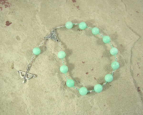 Artemis Pocket Prayer Beads in Amazonite: Greek Goddess of  the Wild, Protector of Young Women