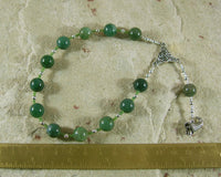 Demeter Pocket Prayer Beads in Moss Agate: Greek Goddess of Grain, the Harvest, the Seasons - Hearthfire Handworks