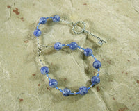 Frigga  Pocket Prayer Beads in Blue Agate: Norse Goddess of Wisdom, Weaving, Good Management - Hearthfire Handworks