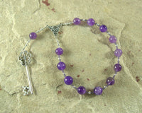 Hekate (Hecate) Pocket Prayer Beads in Amethyst: Greek Goddess of Magic and Witchcraft - Hearthfire Handworks
