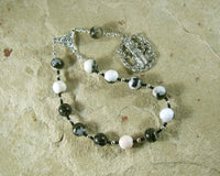 Hekate (Hecate) Pocket Prayer Beads in Zebra Jasper: Greek Goddess of Magic and Witchcraft - Hearthfire Handworks