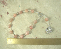 Helios Pocket Prayer Beads in Sunstone: Greek God of the Sun, Witness of Oaths