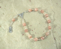 Hemera Pocket Prayer Beads in Sunstone: Greek Goddess of the Day, Daughter of the Night