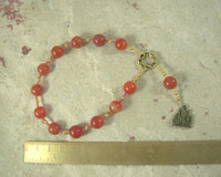 Hestia Pocket Prayer Beads in Carnelian: Greek Goddess of the Hearth, Home and Family