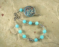 Manannan (Manannan mac Lir) Pocket Prayer Beads in Aquamarine: Irish Celtic God of the Sea - Hearthfire Handworks
