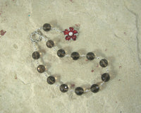 Morpheus Pocket Prayer Beads in Smoky Quartz: Greek God of Dreams