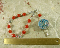 Morrigan Pocket Prayer Beads in Carnelian: Irish Celtic Goddess of War, Death, Sovereignty - Hearthfire Handworks