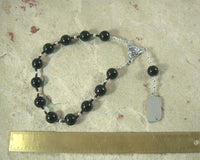 Nyx Pocket Prayer Beads in Black Onyx: Greek Goddess of the Night