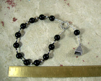 Osiris (Wesir) Pocket Prayer Beads in Black Onyx: Egyptian God of Death and the Afterlife - Hearthfire Handworks