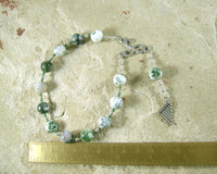 Pan Pocket Prayer Beads in Tree Agate: Greek God of the Forest, Mountains, Country Life - Hearthfire Handworks