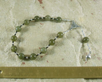 Persephone Pocket Prayer Beads in Labradorite: Greek Goddess of Spring, Death - Hearthfire Handworks