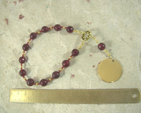 Set Pocket Prayer Beads in Garnet: Egyptian God of Change, Chaos, Battle