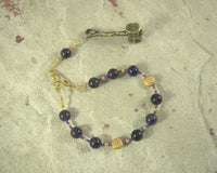 Sucellus Pocket Prayer Beads in Amethyst: Gaulish Celtic God of Fertility, Agriculture and Wine