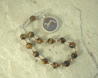 Wepwawet Pocket Prayer Beads in Tiger Eye: Egyptian God of Protection and War, God of Possibilities, Opener of Ways